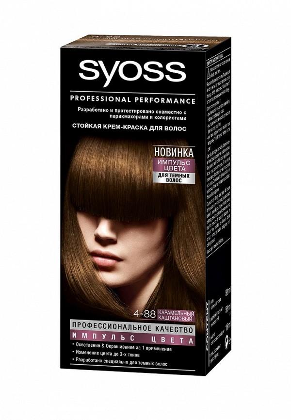 Краска для волос Syoss Импульс Цвета 4-88 Карамельный каштановый, 115 мл