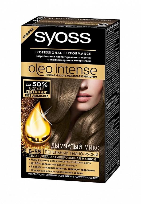 Краска для волос Syoss Oleo Intense 6-55 Пепельный темно-русый, 115 мл