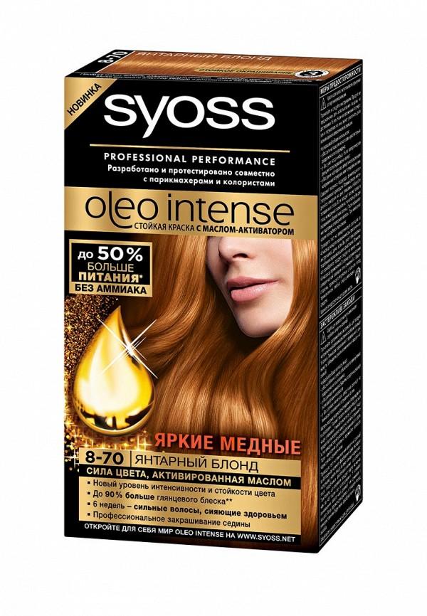 Краска для волос Syoss Oleo Intense 8-70 Янтарный блонд, 115 мл
