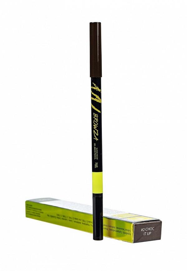 Карандаш Touch in Sol для бровей Browza Super Proof Gel Brow Pencil, №2 Choc it up 15 г