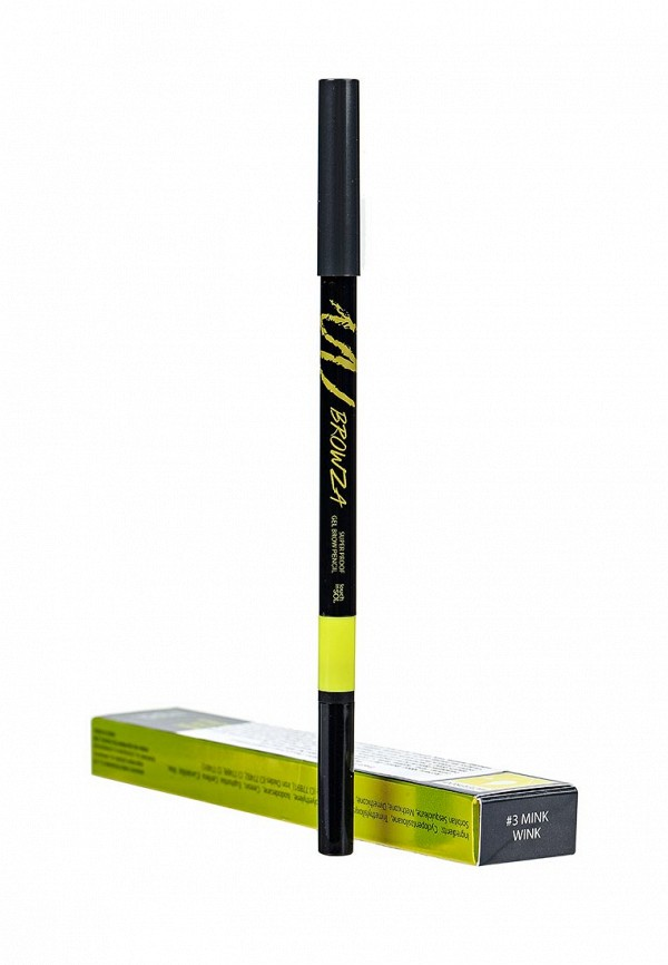 Карандаш Touch in Sol для бровей Browza Super Proof Gel Brow Pencil, №3 Mink wink 15 г