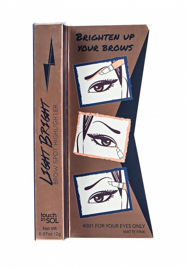 Хайлайтер Touch in Sol для бровей Light Bright Brow Spot Highlighter, №1  For your eyes only, 20 г