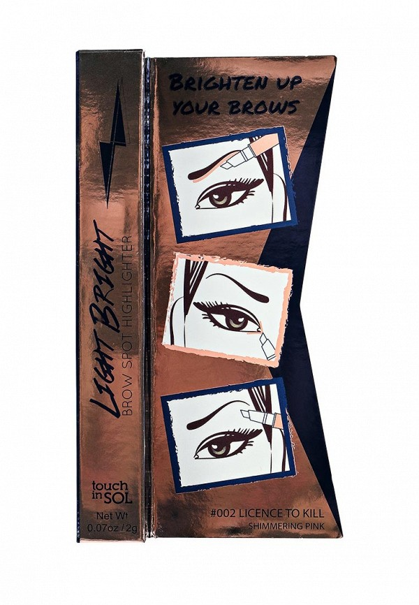 Хайлайтер Touch in Sol для бровей Light Bright Brow Spot Highlighter, №2  License to kill 20 г