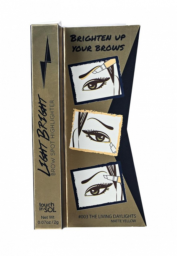 Хайлайтер Touch in Sol для бровей Light Bright Brow Spot Highlighter, №3 The living daylights 20 г