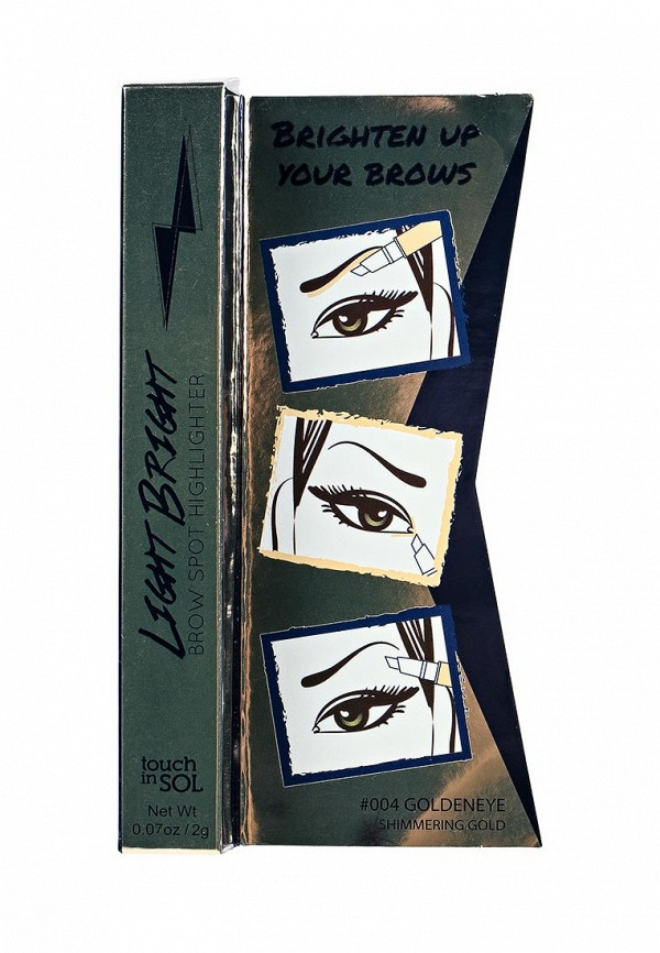 Хайлайтер Touch in Sol для бровей Light Bright Brow Spot Highlighter, №4 Goldeneye 20 г