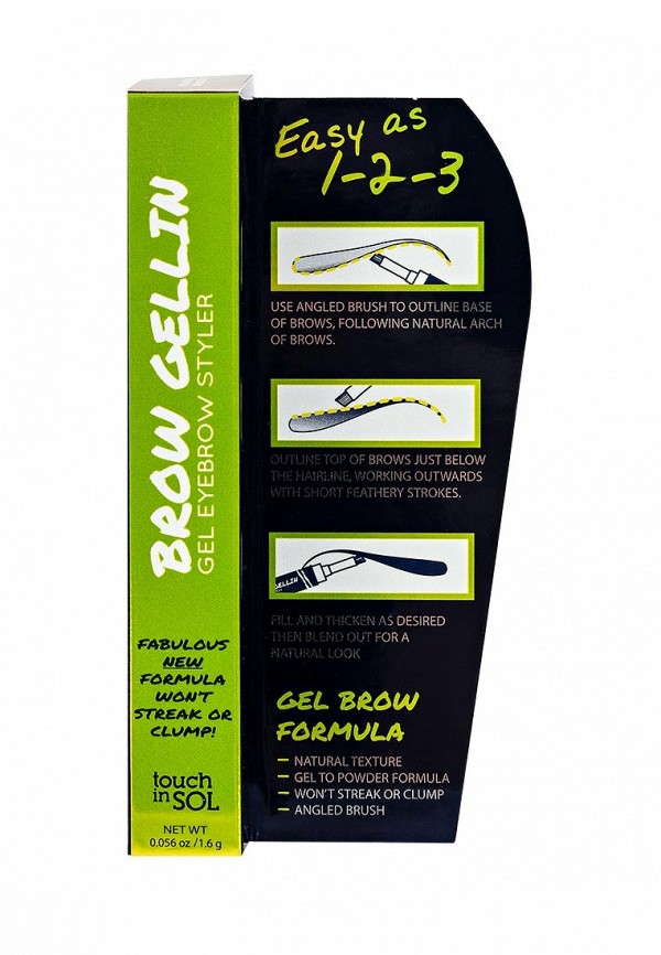 Гель Touch in Sol для бровей Brow Gellin gel eyebrow styler, №2 Rachel 16 г