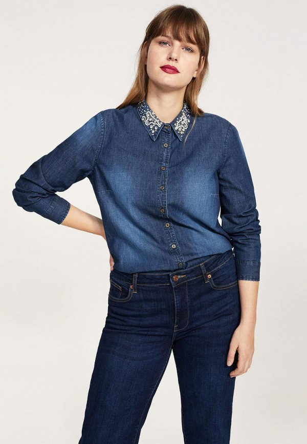 Рубашка джинсовая Violeta by Mango 23080592
