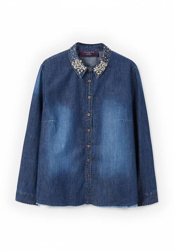 Рубашка джинсовая Violeta by Mango 23080592 Фото 3