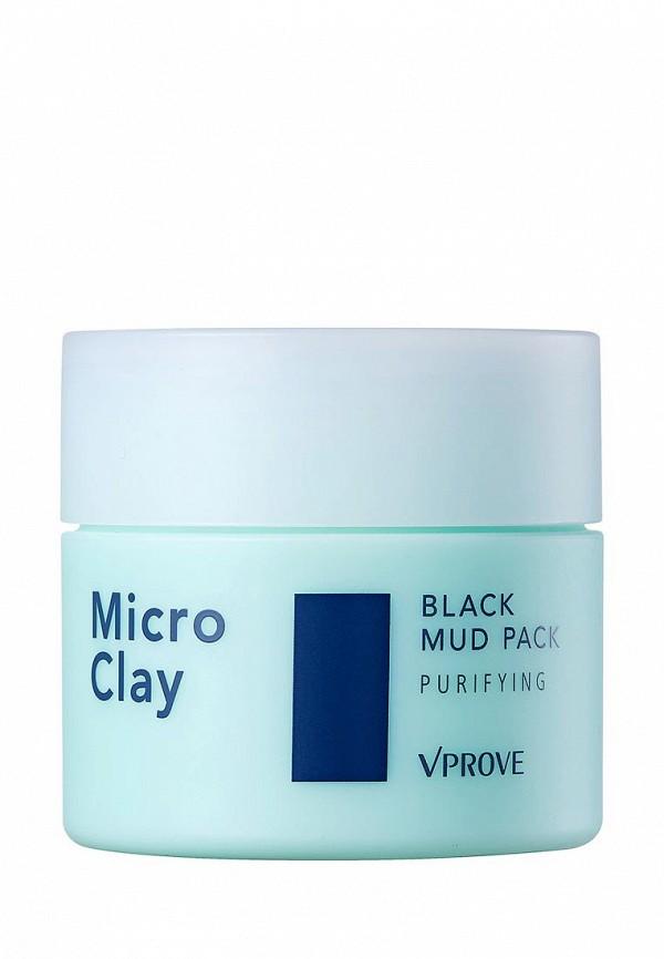 Маска для лица Vprove Кремовая Micro Clay с черной глиной, противовоспалительная, 80 мл