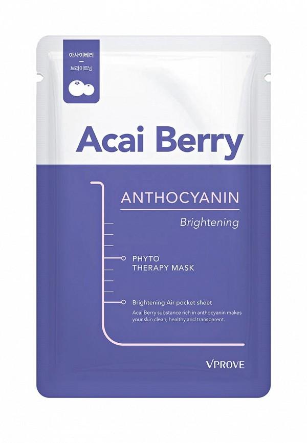 Тканевая маска для лица Vprove Phyto Therapy с ягодами асаи, осветляющая, 20 г