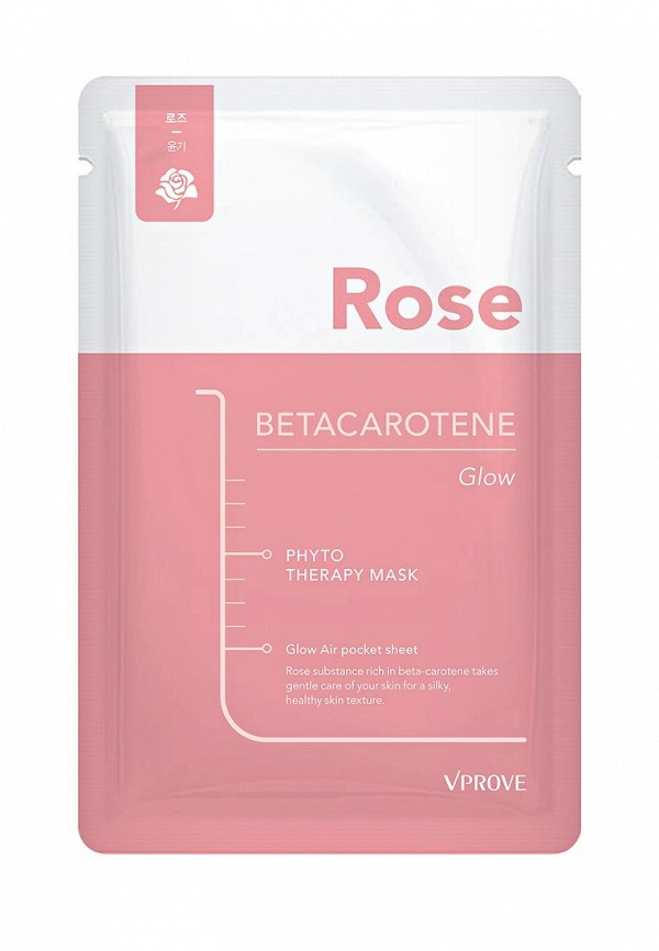Тканевая маска для лица Vprove Phyto Therapy с розой, увлажняющая, 20 г