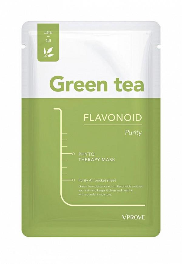 Тканевая маска для лица Vprove Phyto Therapy с зеленым чаем, матирующая, 20 г