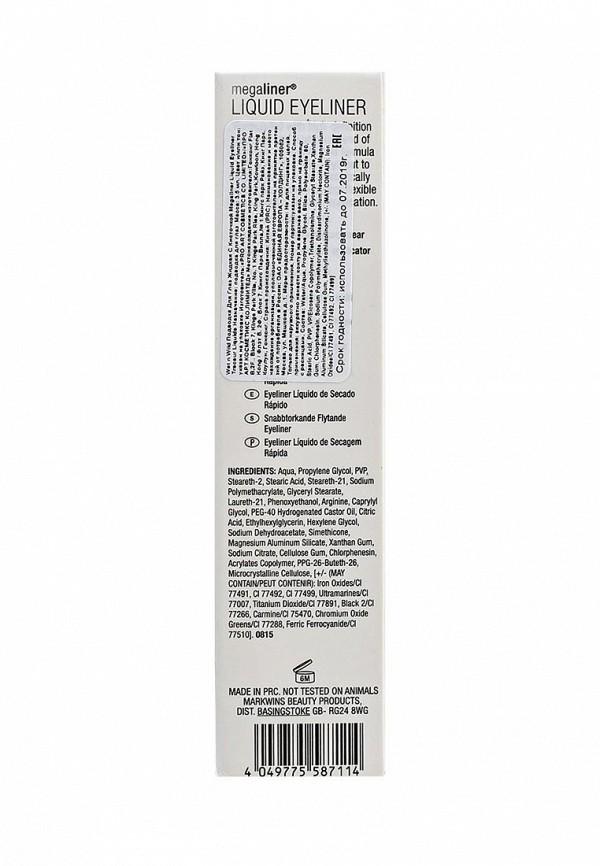 Подводка Wet n Wild Для Глаз Megaliner Liquid Eyeliner Traceur Liquide E8711 black noir