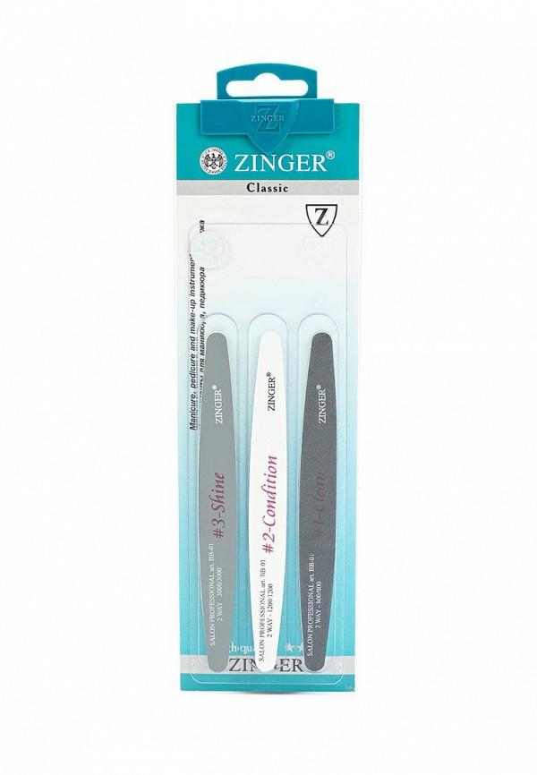 Набор для ухода за ногтями Zinger пилок для трехуровневой полировки zo-BB-01, 380/800/1200/3000 грит