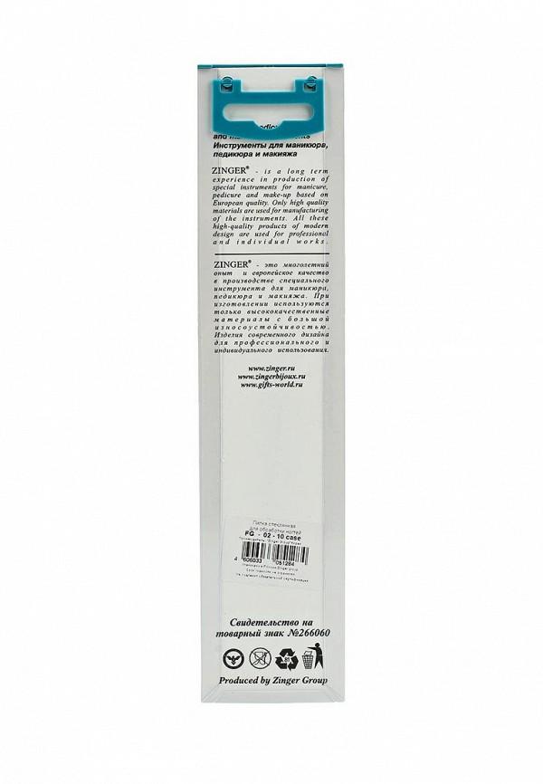 Пилка для ногтей Zinger стеклянная двухсторонняя zo-FG-02-10-Case