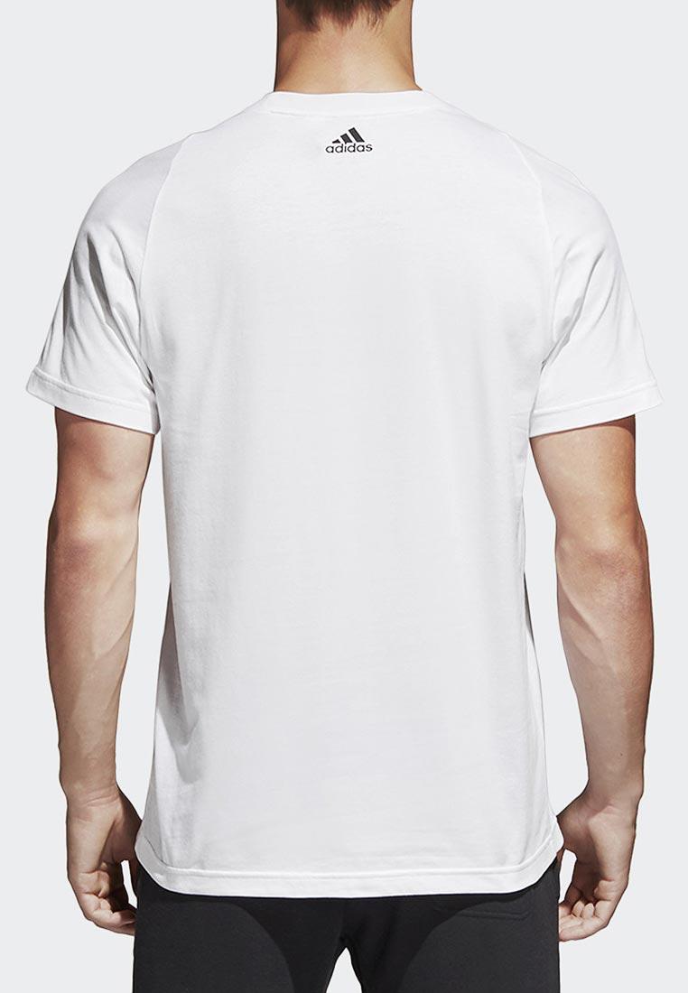 dd8dd89b8f647 Спортивная футболка мужская Adidas (Адидас) B47358 цвет белый купить ...