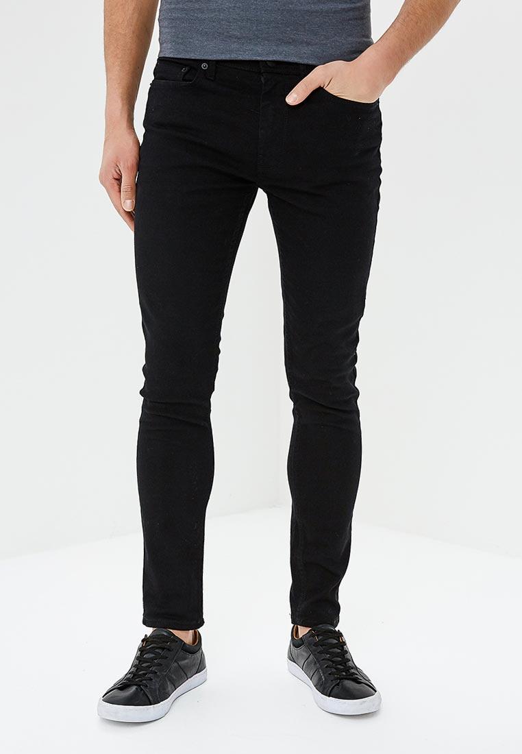 Зауженные джинсы Burton Menswear London 12S01LBLK