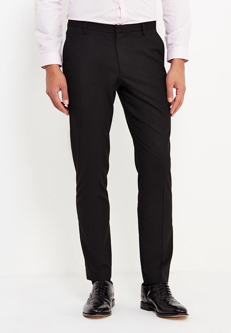 Мужские зауженные брюки Burton Menswear London 23K05LBLK