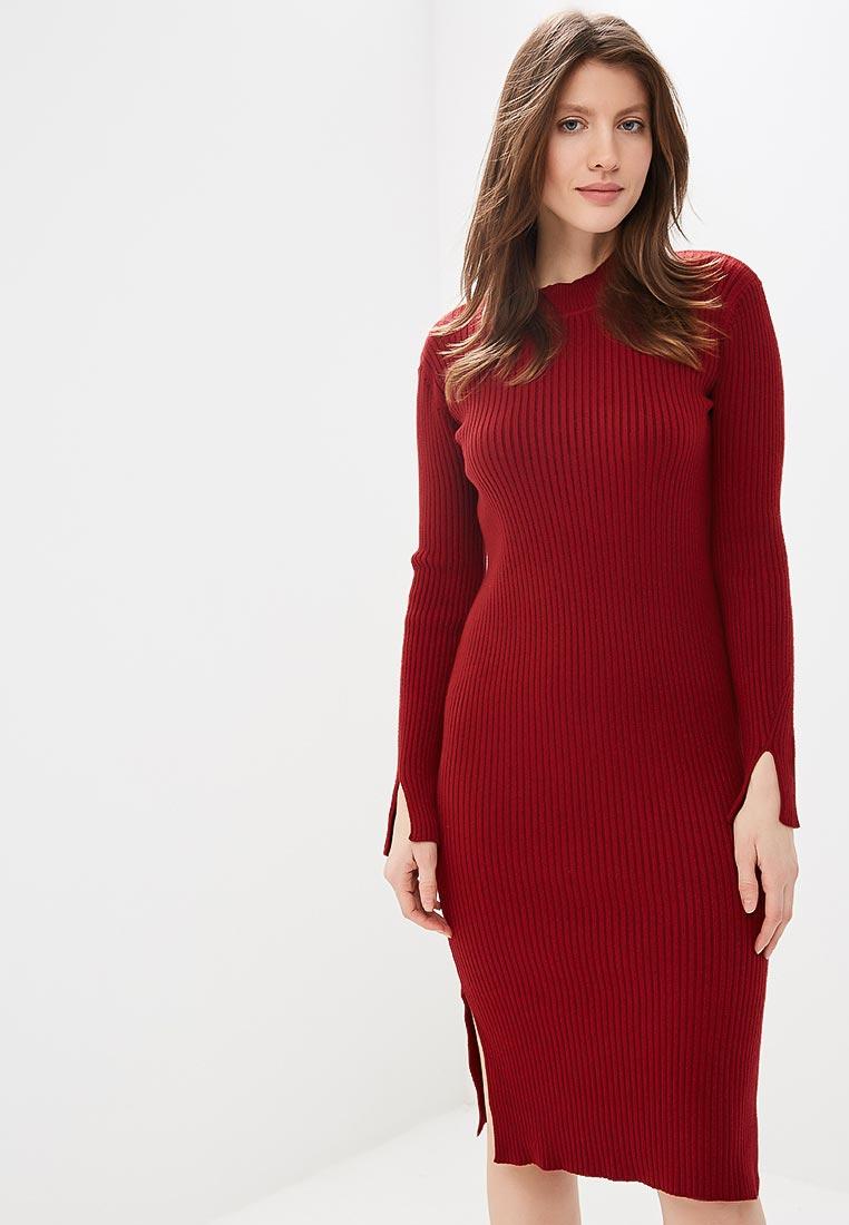Вязаное платье Conso Wear KWDL170788 - marsala