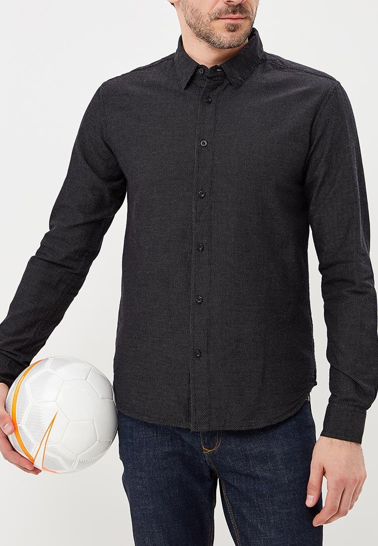 e17123a4816 Черные мужские рубашки - купить приталенную рубашку в клетку в ...