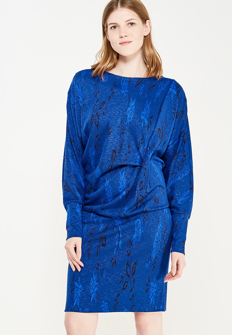 Синие вязаные платья - купить стильное платье в интернет ...