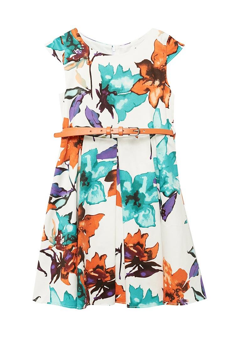 Нарядное платье Shened SH17220оранжевый-116-122