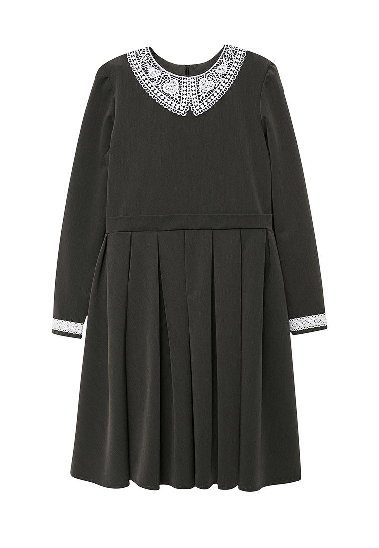 Повседневное платье Shened SH17506т.серый-140-146
