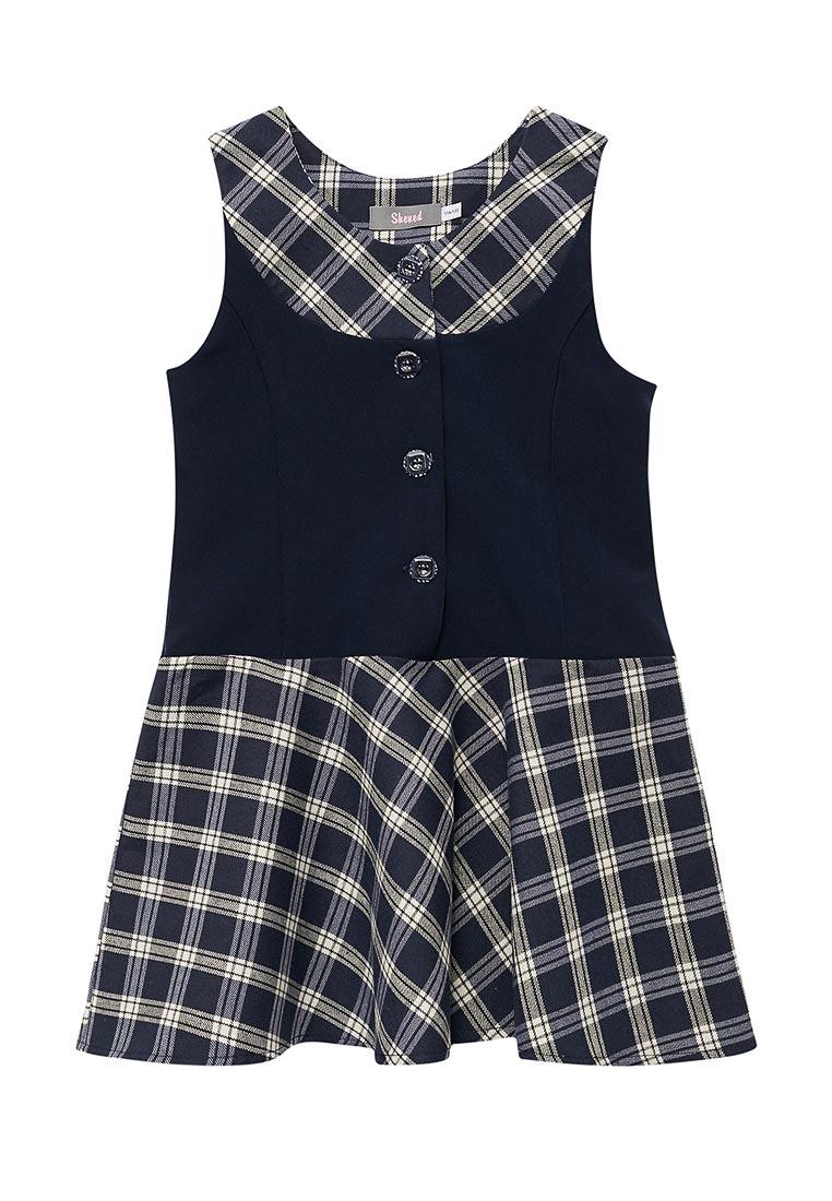 Повседневное платье Shened SH17507синий-116-122