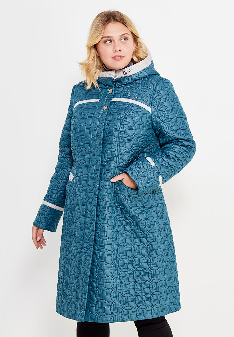 Утепленная куртка Brillare 3-814-29/70biruza/sv.bezevuj-50