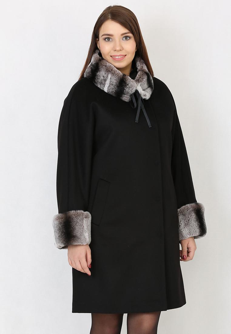 Женские пальто Trifo 7414з-Черный-42/164