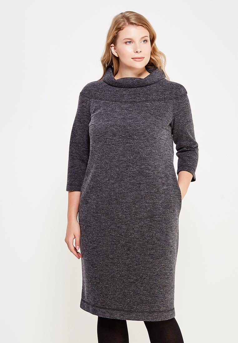 Повседневное платье Larro 1089-т.серый-1