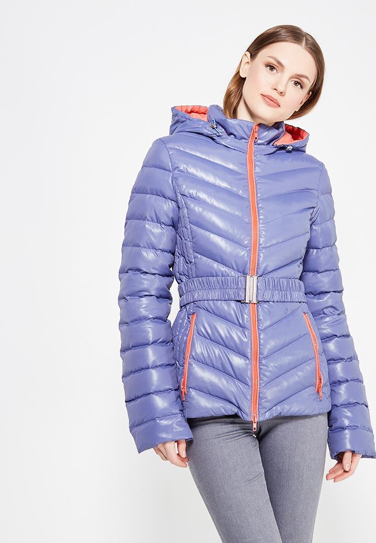 Утепленная куртка IST'OK Виола (Серо-голубой/оранжевый) 42