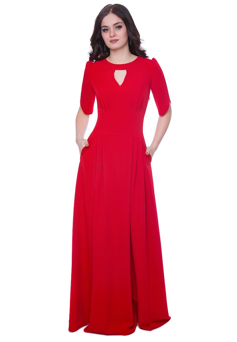Вечернее / коктейльное платье Grey Cat (Грей Кэт) GPl00142V(mihael) красный 42