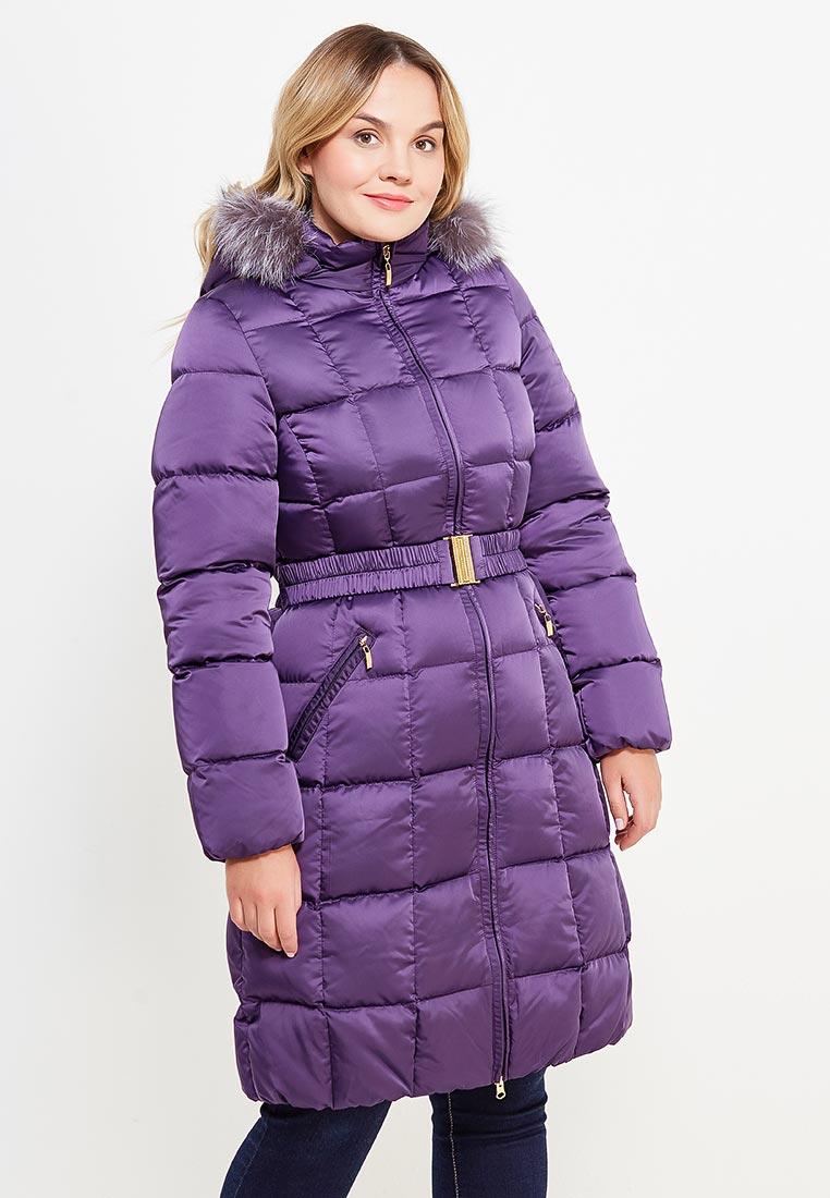 Утепленная куртка IST'OK Юлиана (Фиолетовый) удлиненная 42
