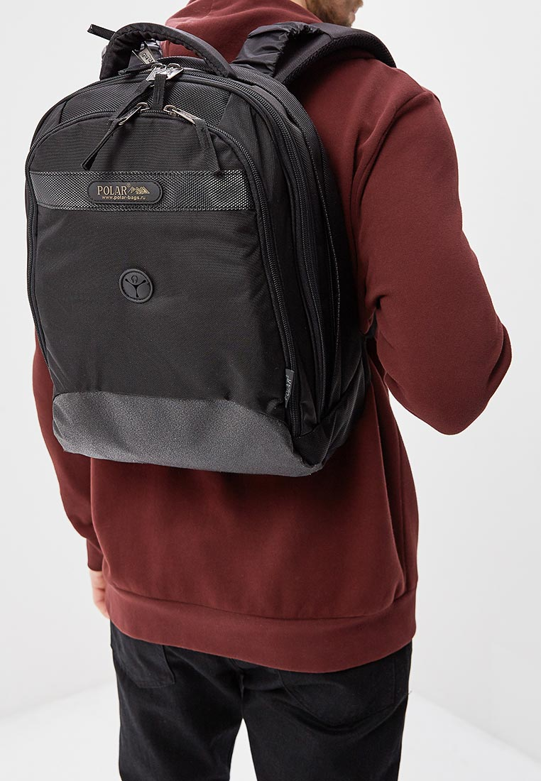 Городской рюкзак Polar П1286-05 черный: изображение 5