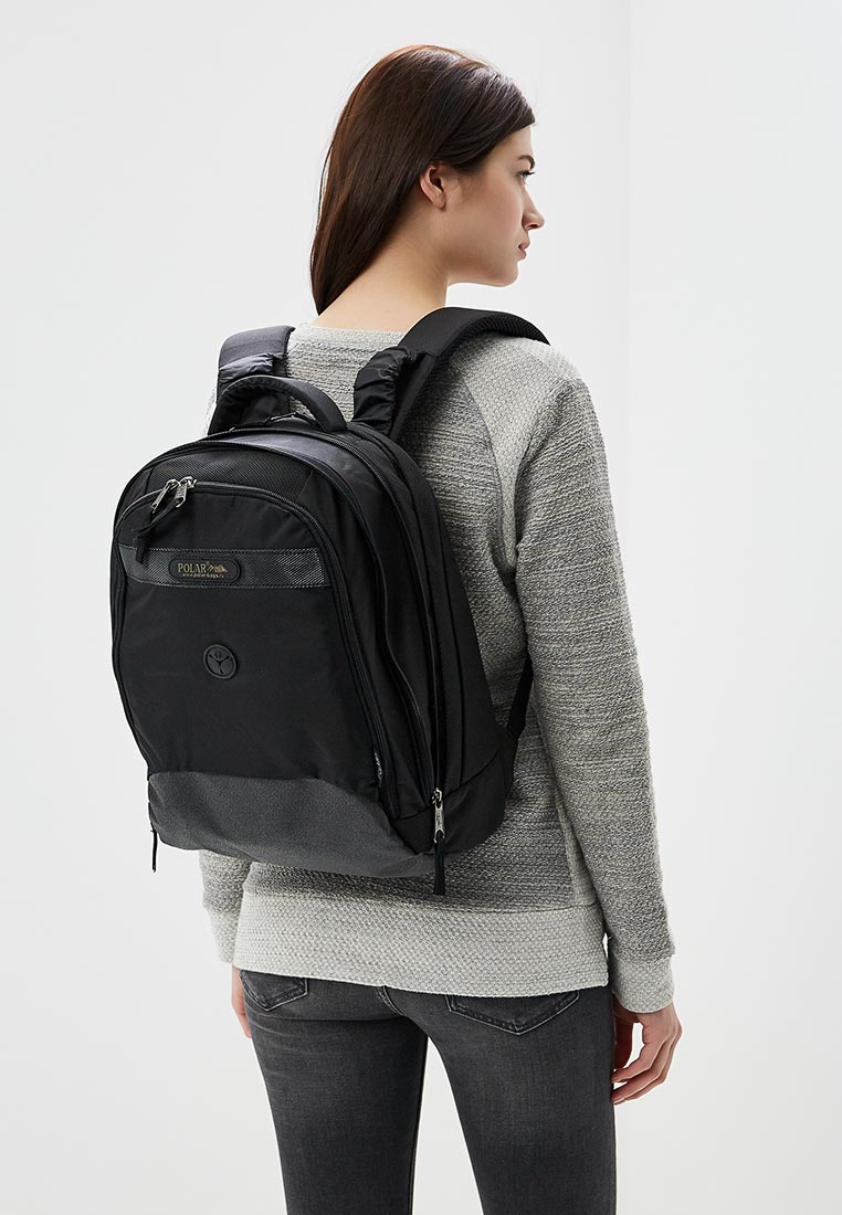 Городской рюкзак Polar П1286-05 черный: изображение 6